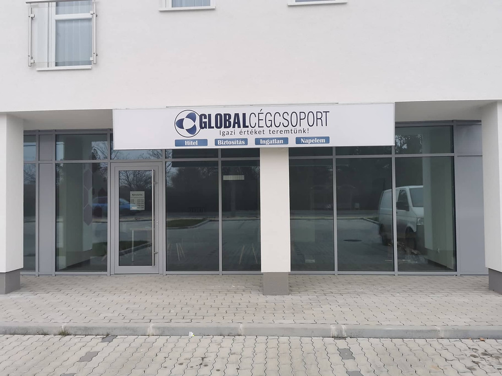 Így néz ki a téti Global Cégcsoport iroda homlokzata