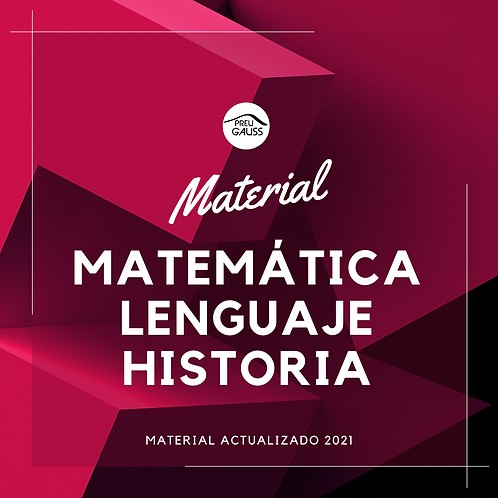 Pack Matemáticas + Lenguaje + Historia 2021