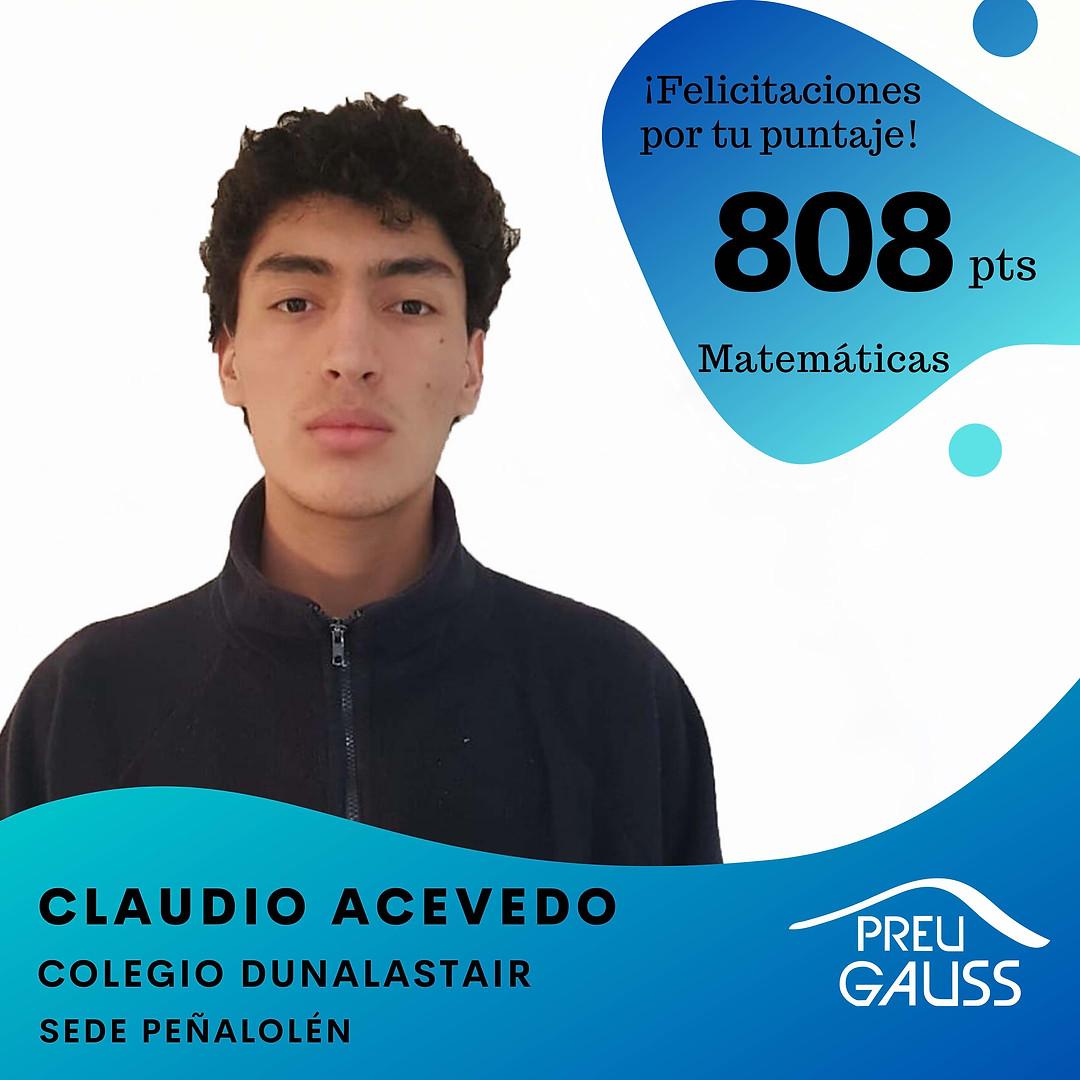 [P19-041] Claudio Acevedo - Matematicas.
