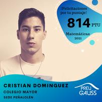 [P20-163] Cristian Dominguez - Matemáti