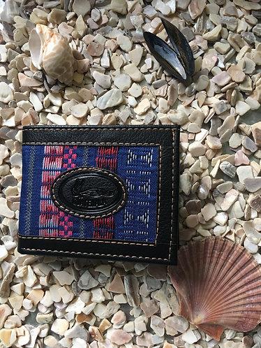Black Mayan textile wallet