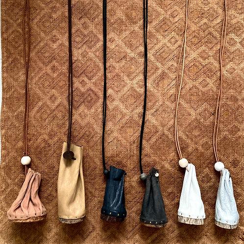 Wood bag ネックレス