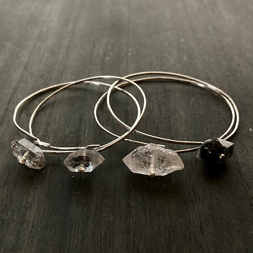 aqua light - bangle  (silver)