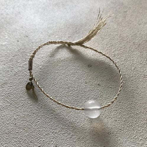 bless Abaca bracelet-milky