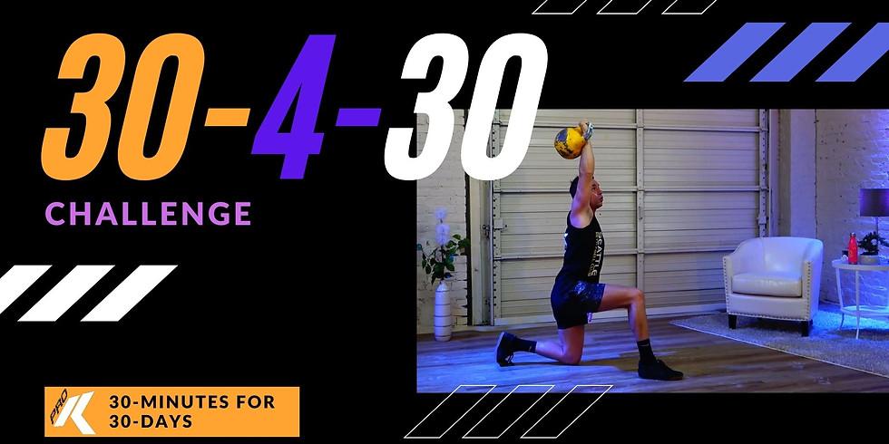 30-4-30 October Challenge Begins