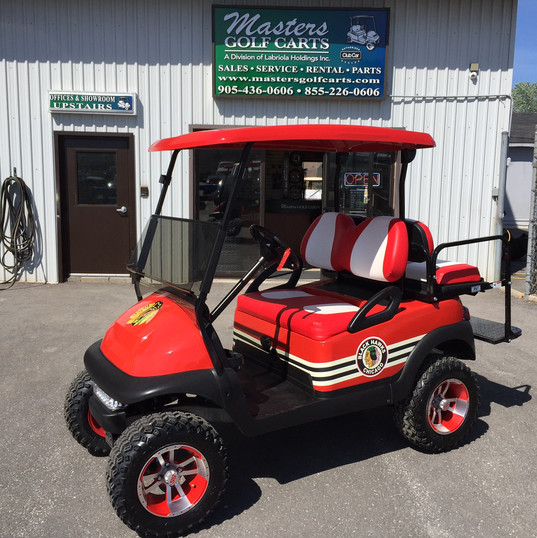 Chicago Blackhawks Golf Cart.JPG