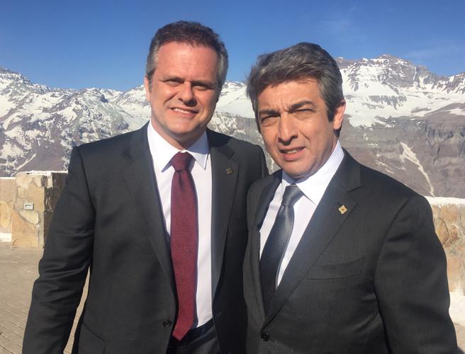 Leonardo Franco e Ricardo Darin em A COR