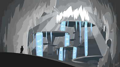 Cave Worm waterfalls concept