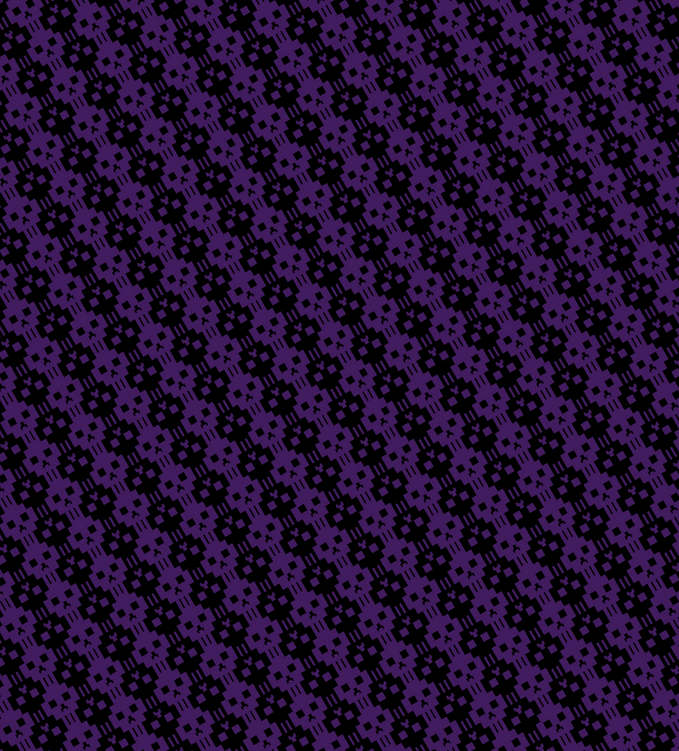 A tiling purple and black pixel skull (PixSkull) background