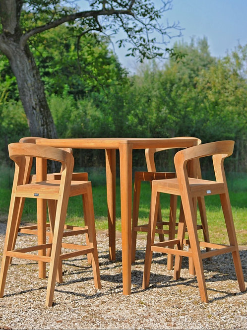 Play Barstool HIGH - OUTDOORS - Teak