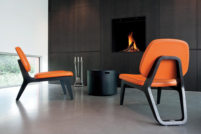 Oak Orange Leather Fire