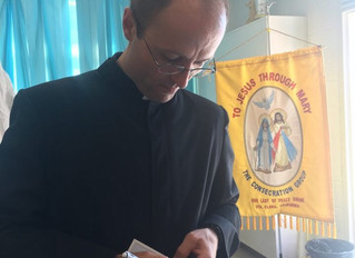Fr. Brian Dinkel Signs Up for Consecration