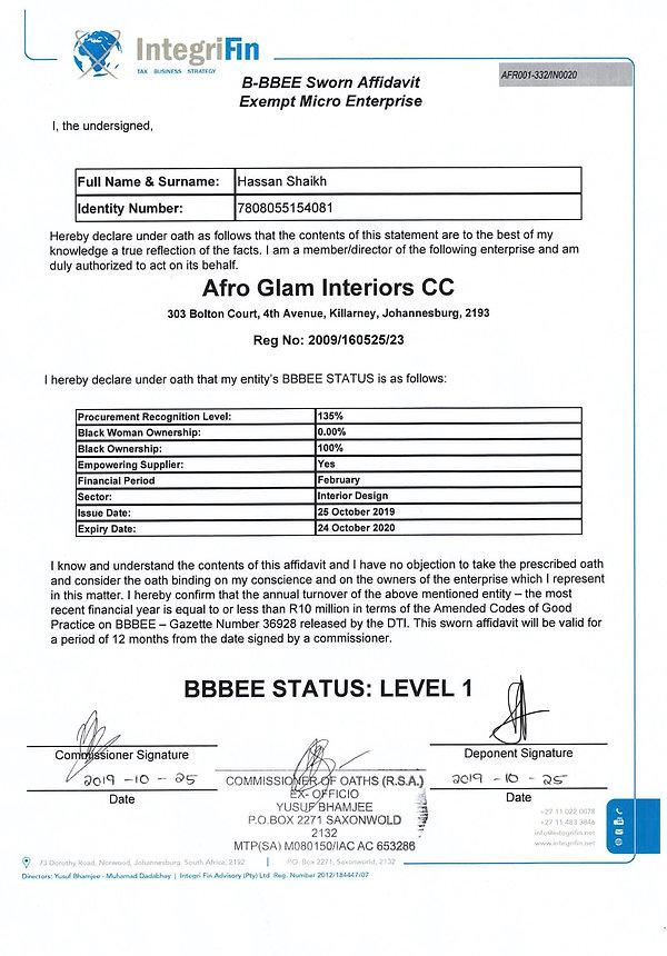 Afro Glam BEE Certificate Oct 2020.jpg