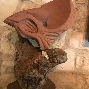 """Nesting"" - Red sandstone/wood"