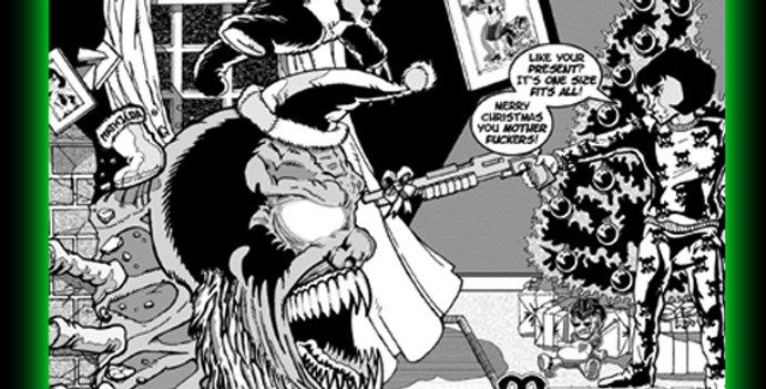 Mathilda vs. Krampus 18 x 24 Poster