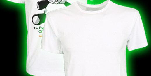 UNISEX White T-shirt– XLARGE