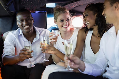 Guests in a party bus