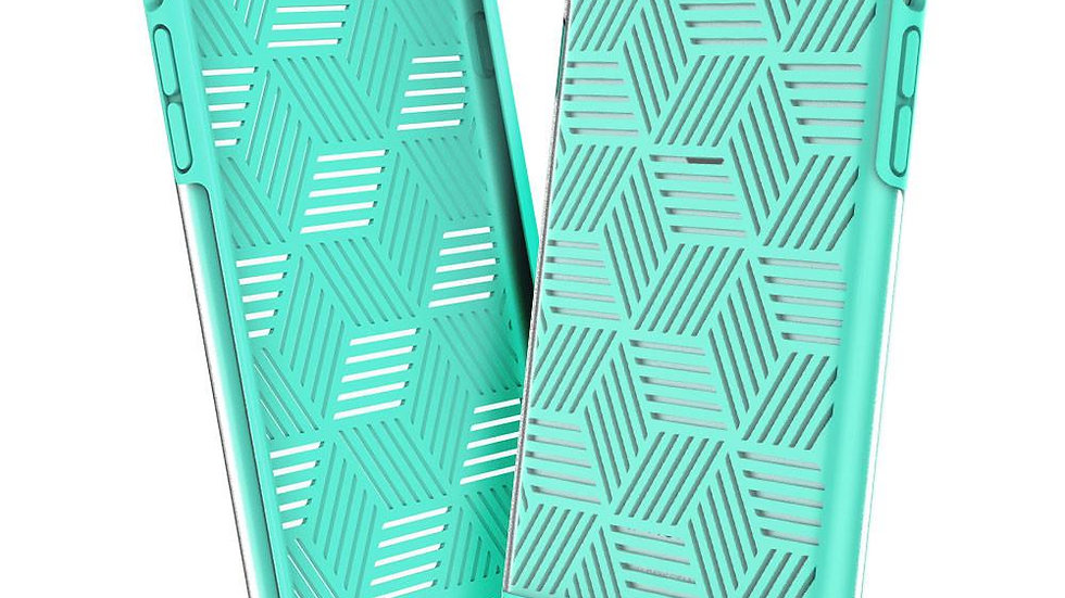 Prodigee iPhone 7+ / 8+ Stencil Case TEAL/SILVER