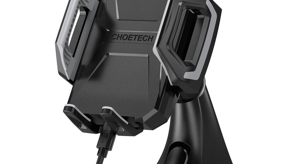 Choetech Wireless Car Charger (USB Type-C / 10W/7.5W Qi Wireless Fast Charging)