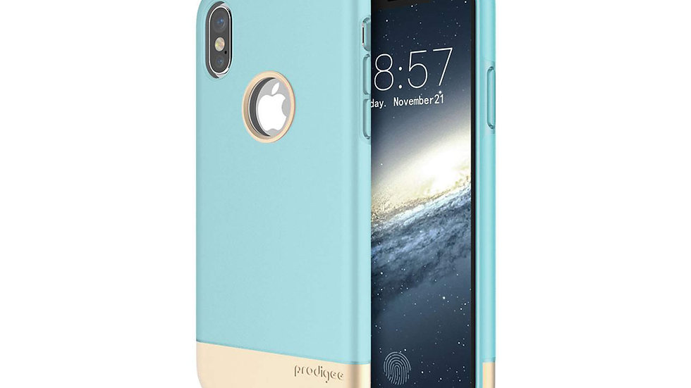 Prodigee iPhone X Fit Pro Case AQUA/GOLD