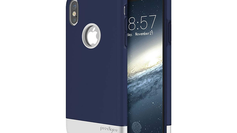 Prodigee iPhone X Fit Pro Case NAVY/ SILVER
