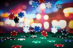 Blackjack Falling Chips