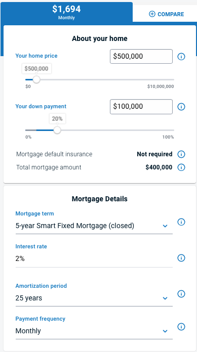 卡尔加里贷款计算