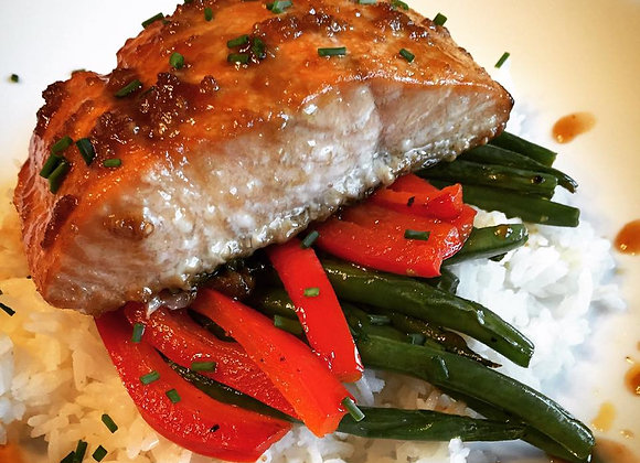 Honey Ginger Glazed Salmon (Serves 4)