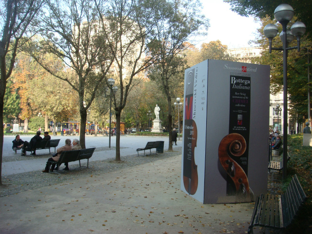 クレモナ・ローマ公園にて