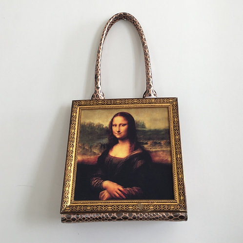 Iconic Monalisa Frame Handbag Bronze