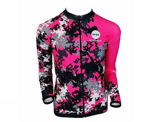 Pixmoro Pink Dziecięca ocieplana bluza kolarska / Kids insulated cycling jacket