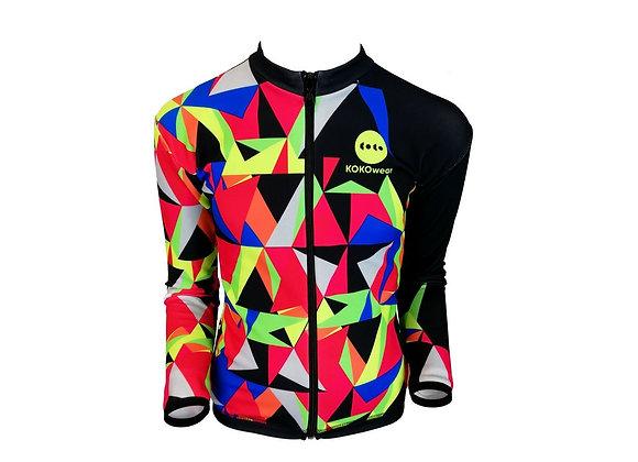 AEROTRIANGLE  Dziecięca ocieplana bluza kolarska / Kids insulated cycling jacket