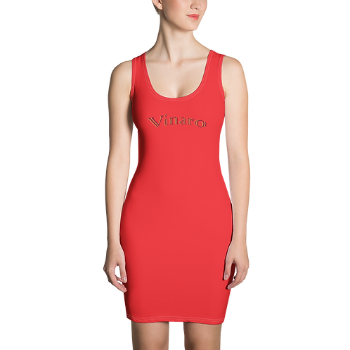 Vinaro Women Cut & Sew Dress Red