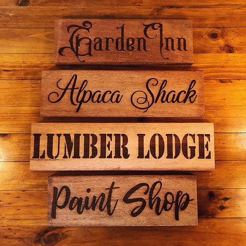 DESIGN YOUR OWN  Personalised Kwila Wood Sign