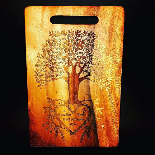 PERSONALISED Family Tree Cutting Board - Medium