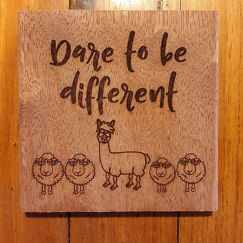 'Dare to be Different' - Alpaca sign