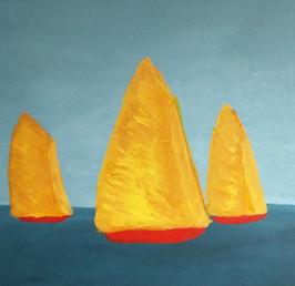 Bateaux voile dorée