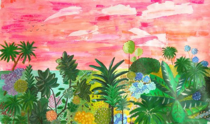 Happy tropical