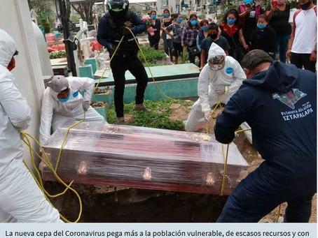 71% de los mexicanos muertos por Covid-19, con escolaridad de primaria o inferior