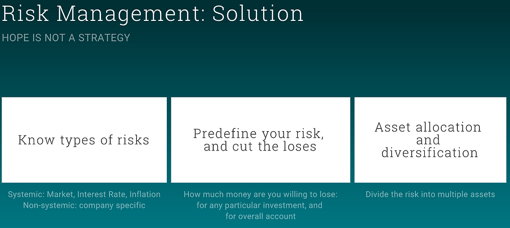 Strategies to manage risk