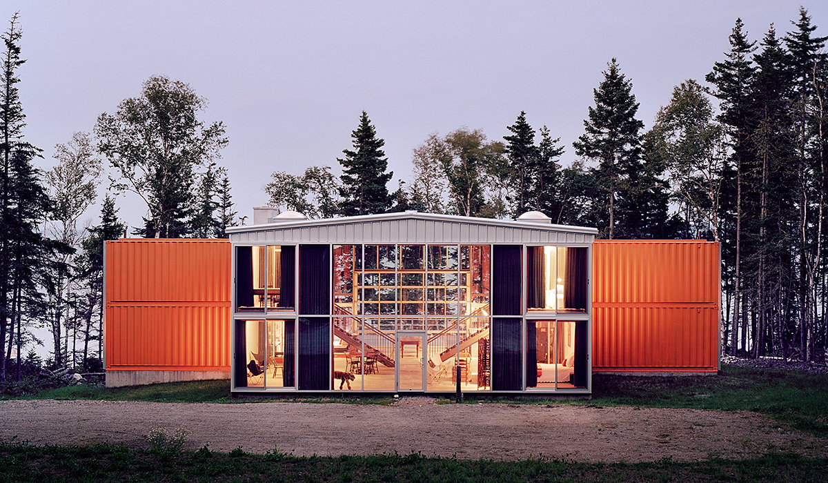 A MODS International shipping container house available for sale on Amazon.  All photos via Amazon