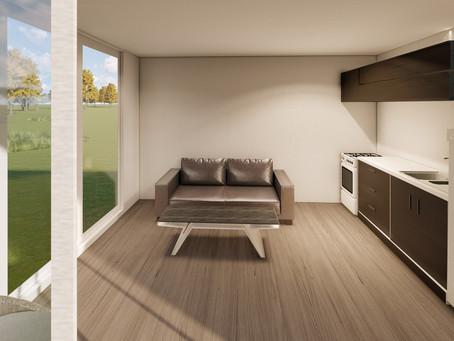 An amazing 40sqm flexible design, folding system permanent house under