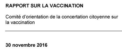 Lisez le rapport sur la vaccination