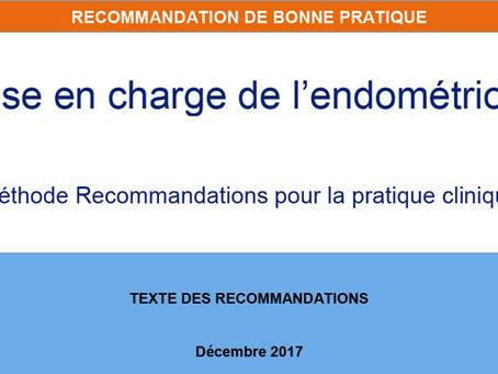 Nouvelles recommandations GNGOF/HAS sur l'endométriose