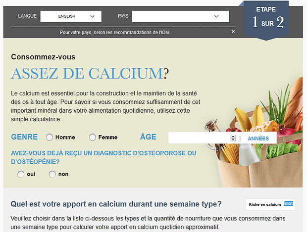 Calcium Calculator International Osteopo