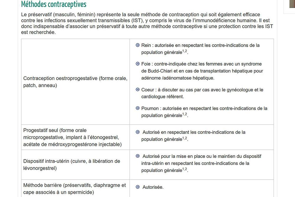 contraception transplantées CGVCL HAS