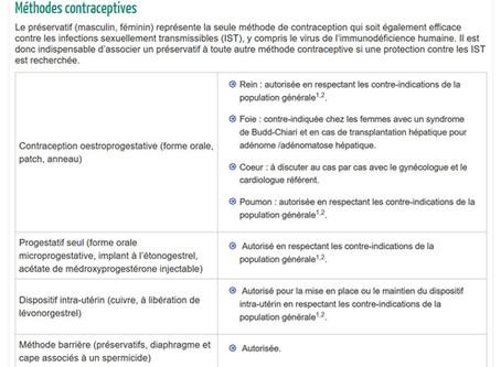 Contraception chez les transplantées