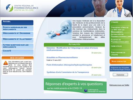 Pharmacovigilance: pour s'abonner aux news du service du CHU de Tours