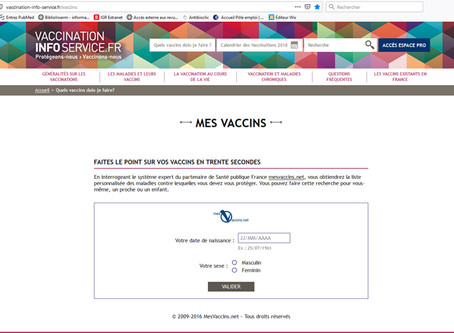 Faire le point sur mes vaccins: un site