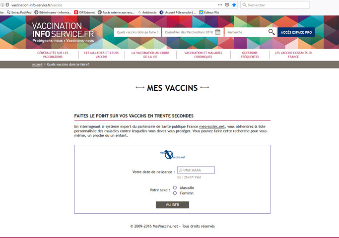 https://www.mesvaccins.net/ le point sur les vaccins